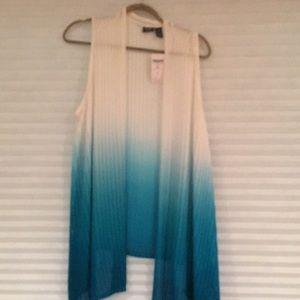 Chico blue and white vest